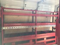 Metal racking and safestow ladder from SWB medium roof transit