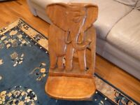 beautiful solid wood traditional african crafted 2D low level elephant chair,very very nice display.