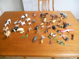 The Entertainer- Large Bundle of Toy Farm & Zoo Animals -54 in all.