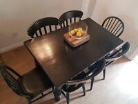 Dining Room Table Wood Black