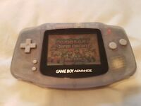 GAME BOY ADVANCE Console with Mario Cart Game. Battery Powered