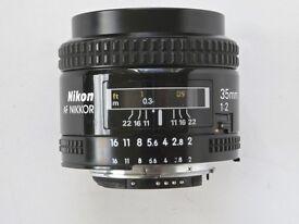AF NIKKOR 35mm f2 Wide angle lens NOTE NEW PRICE (was £160)