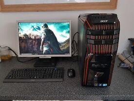 Acer Predator Quad Core Gaming Desktop Intel core i5-650 Quad core cup @ 3.20ghz 8gb ddr3 Ram 1Tb