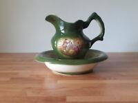 Antique Jug & Bowl (Staffordshire England)