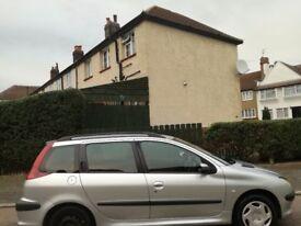 Diesel Peugeot 206 estate years MOT £395