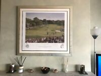 Framed Limited Edition Print Of 2004 Ryder Cup - Signed by Colin Montgomerie