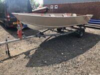 16' PolarKraft 1670 16' Aluminium 16ft Fishing Boat (takes a Short Shaft Outboard)