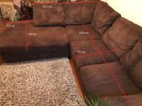 Large comfy corner sofa in perfect condition