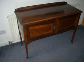 Antique Edwardian Chest with inlaid wood detail
