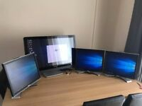 3 Dell Monitors with Multiple Display Adaptor by Plugable