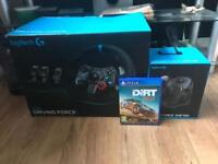 Logitech G29 + gear shifter + Dirt Rally