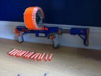 Nerf Gun N-Strike Raider Rapid Fire CS-35 Dart Blaster with extra bullets