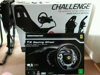 Playseat Challenge racing seat plus Thrustmaster tx Xbox force feed wheel