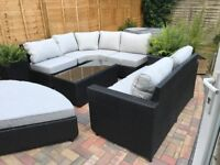 Moda Halo3f garden furniture set. Used once. Comes with cover and ready for the summer