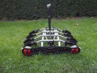 4 Bike Tow Bar Mounted Cycle Carrier / Bike Rack With Lighting Board