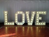 4FT LOVE letters for HIRE 170.00 SPECIAL OFFER UNTIL END OF JULY London, Surrey, Kent areas