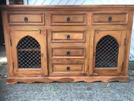 Indian Oak lounge cabinet