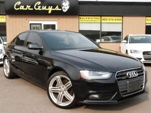 2013 Audi A4 2.0T (Tiptronic) - S-Line Wheels, H. Leather, Roof