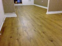 7MM laminate flooring fully supplied and fitted with underlay, beading and door finish.