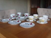 Assorted cups, saucers and side plates