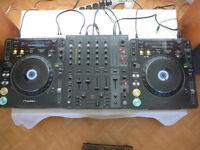 2 x Pioneer CDJ 1000 Mk3 and Behringer DJX 750 Mixer