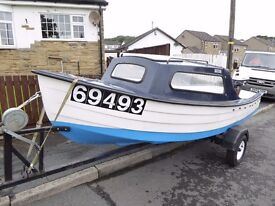 Mayland 14 foot day/fishing boat, 4HP 2011 Yamaha outboard, trailer, excellent condition