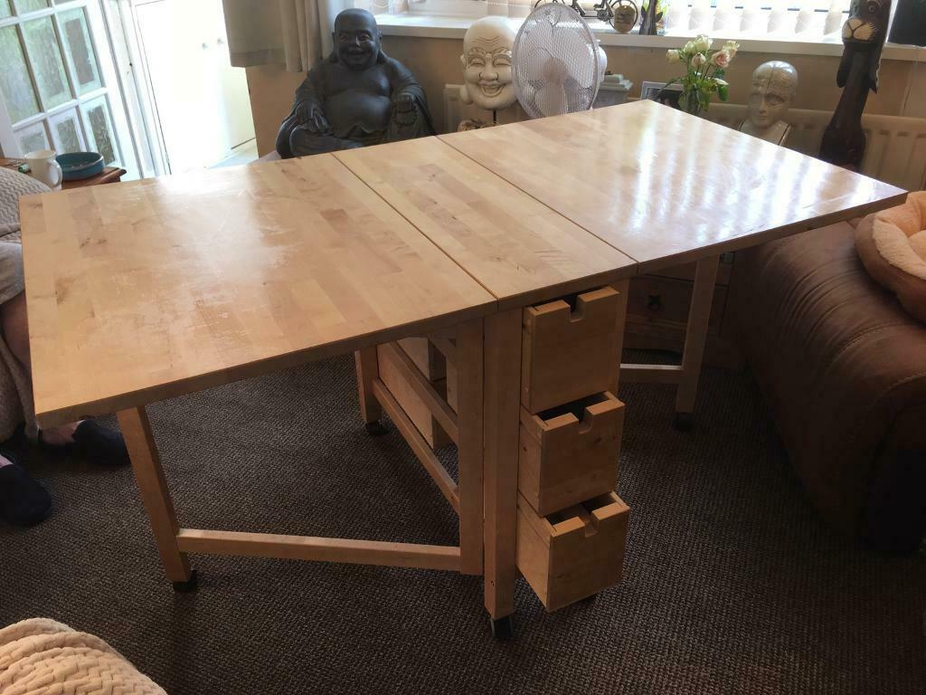 Ikea Norden Birch Table In Skelmanthorpe West Yorkshire Gumtree