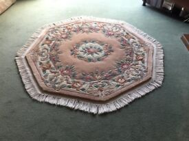 Chinese rug. 8 sided octagonal lounge rug. Premier grade super washed.