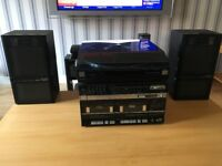 Fischer studio hi fi player with record deck and twin tape decks