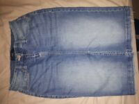 Womens Denim Skirt From Next Size 8 NEW