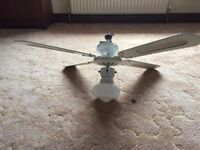 White ceiling fan light
