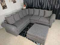 EXPRESS DELIVERY ALL UK | LIVERPOOL GLB GREY CORNER SOFA | 1 YEAR WARRANTY | FOAM CUSSHION