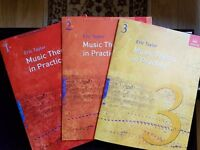 ABRSM Music Theory Grades 1, 2 & 3 workbooks and past papers - 15 BOOKS IN ALL