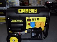 NEW CHAMPION 5.5kw GENERATORS, ELECTRIC START, REMOTE START & RECOIL, 13HP , BALLYNAHINCH