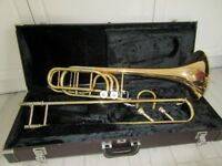 Yamaha YSL-613H Professional Bass Trombone Duel Inline Independent Rotors