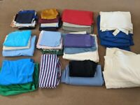 Job Lot of assorted lengths & types of fabrics. 15kg weight