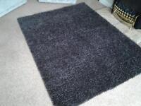 dark brown shaggy rug