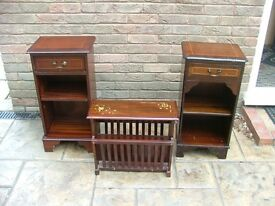 2 side table /bookcases and paper rack/table