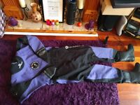 Typhoon ladies membrane drysuit and forth element undersuit