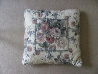 Scatter cushions floral print with quilted effect. Matched pair available. £2 each.