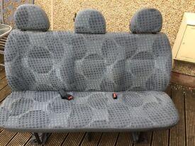 Transit triple rear bench