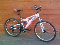 Trax Mountain ,City Bike - fully working order , full suspension , comfortable seat , good brakes