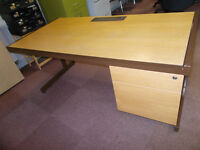 Large 2 drawer office desk with modesty panel. 795mmx1600mm. 725mm high (standard)
