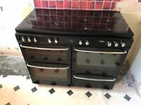 Large range dual Fuel cooker and electric grill and ovens with 7 hobs ( 1100DFSIDLa) 1100 mm