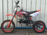 New 125cc Dirt Bike 2016 MXB Model, Great Fun Great Value