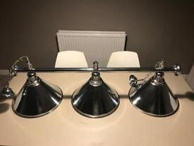 Chrome kitchen or dining lights