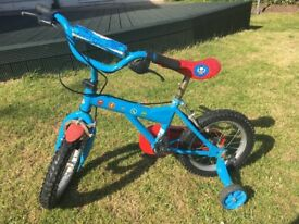 Thomas the tank engine Bike with stabilisers