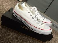 All Star Low Converse White Canvas Size 7