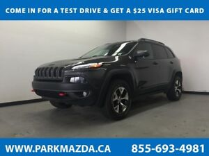 2016 Jeep Cherokee Trailhawk 4WD - Bluetooth, Remote Start, Back