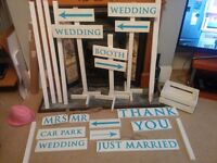 Wedding Decoration Signs and plans